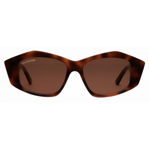Balenciaga - Cut Square Sunglasses - Havana - Sunglasses - Balenciaga Eyewear