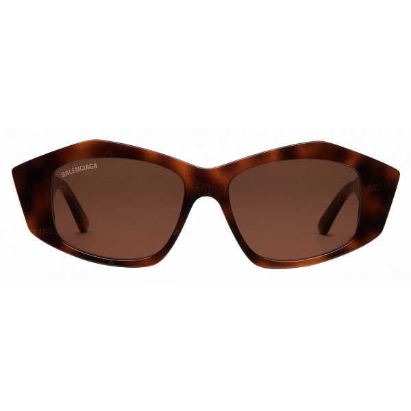 Balenciaga - Occhiali da Sole Cut Square - Havana - Occhiali da Sole - Balenciaga Eyewear