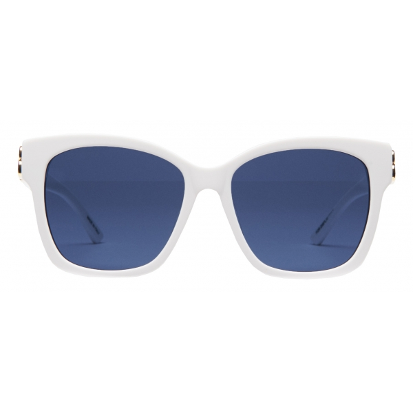 Balenciaga - Adjusted Fit Dynasty Square Sunglasses - White - Sunglasses - Balenciaga Eyewear