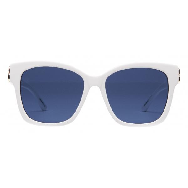 Balenciaga - Occhiali da Sole Dynasty Square Dalla Linea Aderente - Bianco - Occhiali da Sole - Balenciaga Eyewear