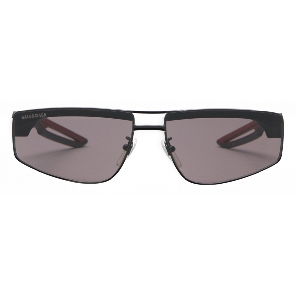 Balenciaga - Hybrid Rectangle Sunglasses - Black Red - Sunglasses - Balenciaga Eyewear