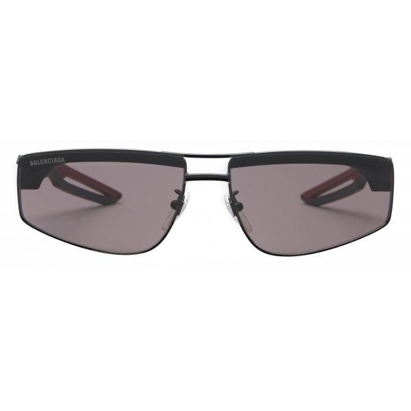 Balenciaga - Occhiali da Sole Hybrid Rectangle - Nero Rosso - Occhiali da Sole - Balenciaga Eyewear