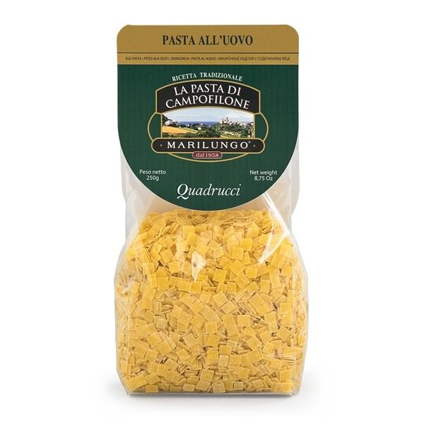 Pasta Marilungo - Quadrucci - Short Pasta Drawn - Pasta of Campofilone