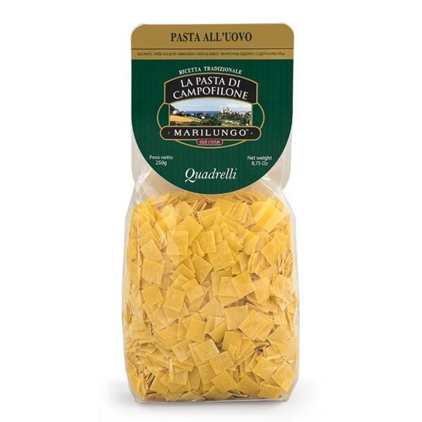 Pasta Marilungo - Quadrelli - Pasta Corta Trafilata - Pasta di Campofilone