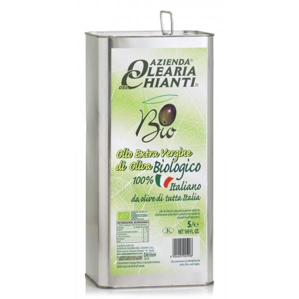 Azienda Olearia del Chianti - Olio Extravergine di Oliva Filtrato Italiano - Biologico - 5 l