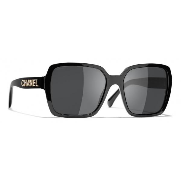 Chanel - Occhiali Quadrati da Sole - Nero Grigio - Chanel Eyewear