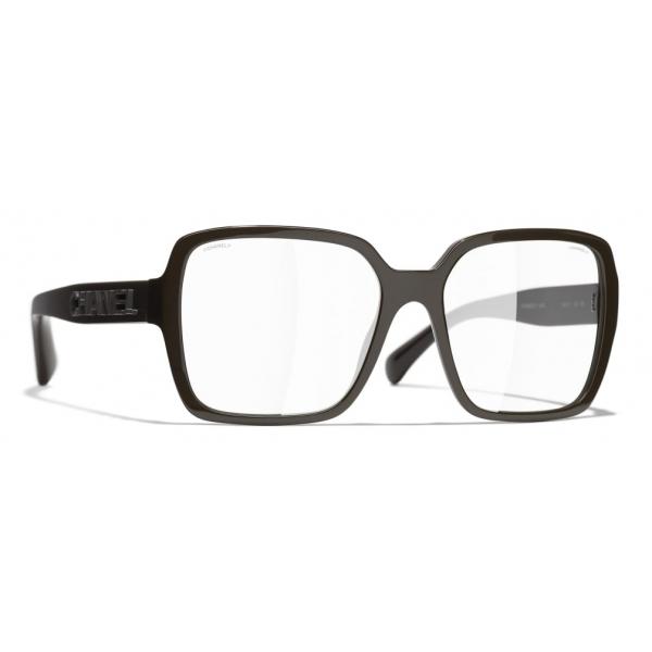 Chanel - Occhiali Quadrati da Sole - Marrone Trasparente - Chanel Eyewear