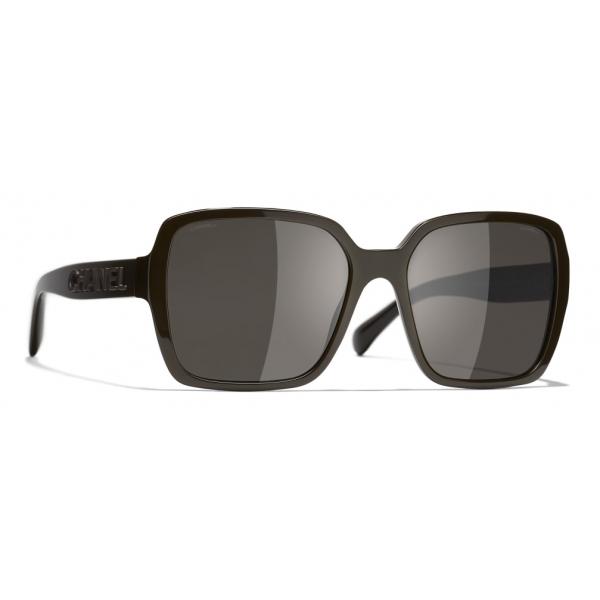 Chanel - Occhiali Quadrati da Sole - Marrone - Chanel Eyewear