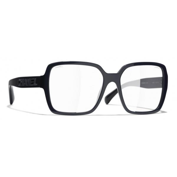 Chanel - Occhiali Quadrati da Sole - Blu Scuro Trasparente - Chanel Eyewear