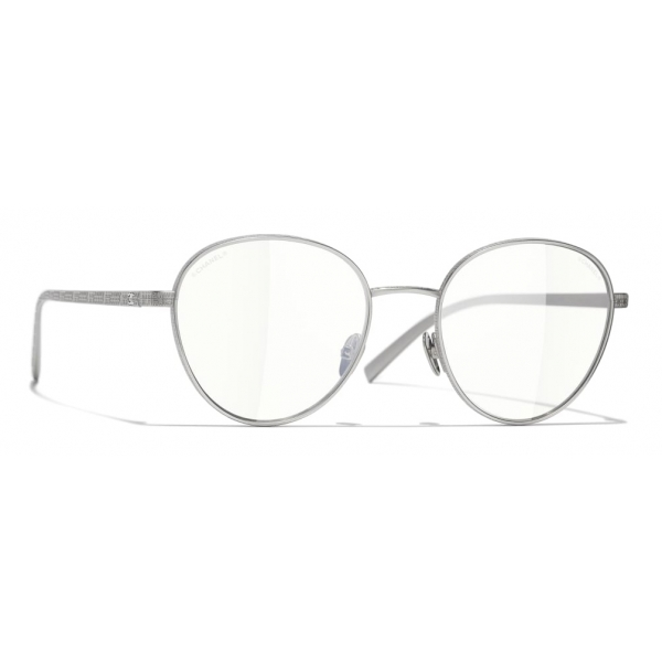 Chanel - Occhiali Modello Pantos da Sole - Argento Trasparente - Chanel Eyewear