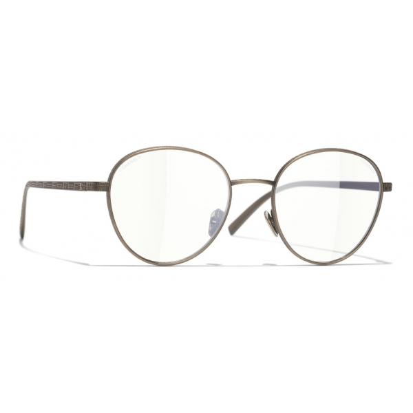 Chanel - Occhiali Modello Pantos da Sole - Oro Scuro Trasparente - Chanel Eyewear