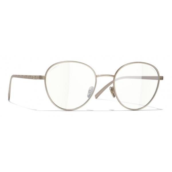 Chanel - Occhiali Modello Pantos da Sole - Oro Trasparente - Chanel Eyewear