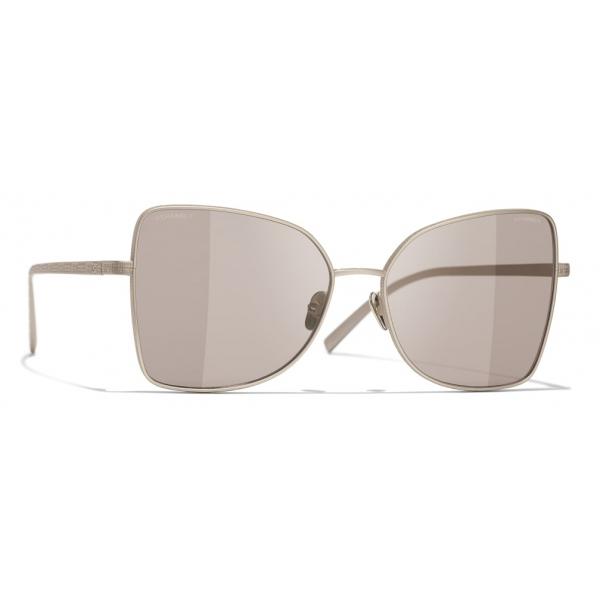 Chanel - Occhiali a Farfalla da Sole - Oro Marrone - Chanel Eyewear