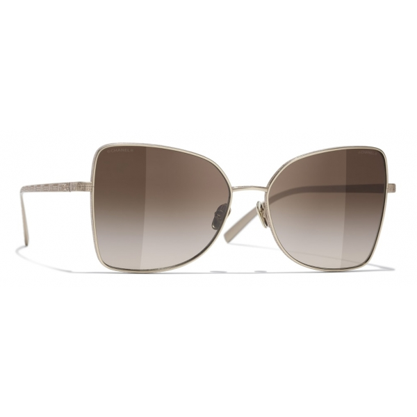 Chanel - Butterfly Sunglasses - Gold Brown - Chanel Eyewear