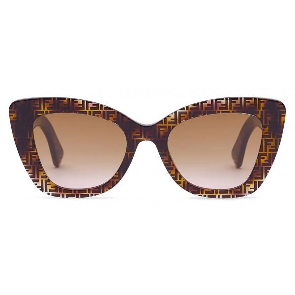 Fendi - F is Fendi - Square Sunglasses - Havana - Sunglasses - Fendi Eyewear