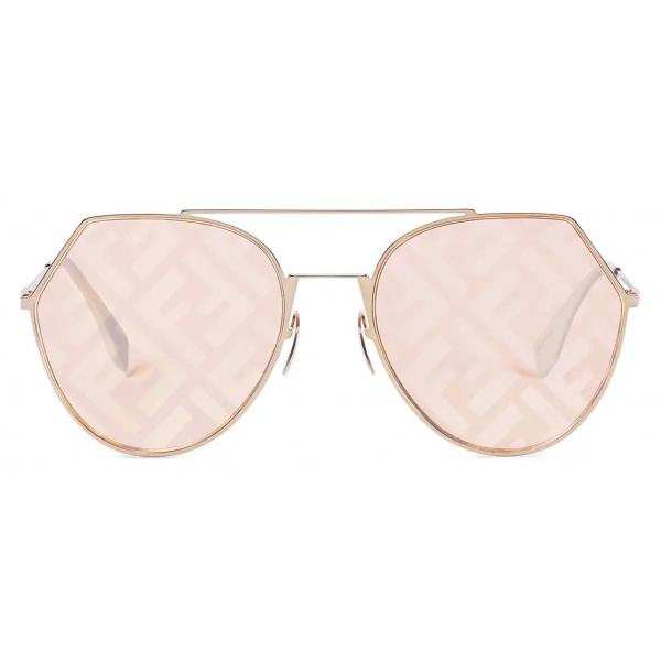Fendi - Eyeline - Aviator Sunglasses - Peach - Sunglasses - Fendi Eyewear