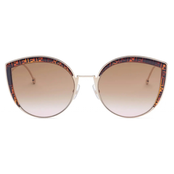 Fendi - F is Fendi - Cat-Eye Oversize Sunglasses - Brown - Sunglasses - Fendi Eyewear
