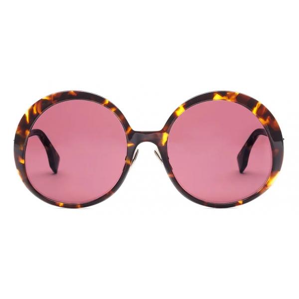 Fendi - Promeneye - Oversize Round Sunglasses - Red - Sunglasses - Fendi Eyewear