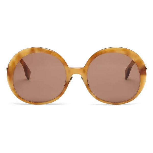 Fendi - Promeneye - Oversize Round Sunglasses - Brown - Sunglasses - Fendi Eyewear