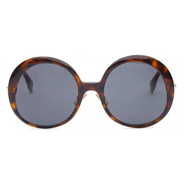 Fendi - Promeneye - Oversize Round Sunglasses - Gray - Sunglasses - Fendi Eyewear