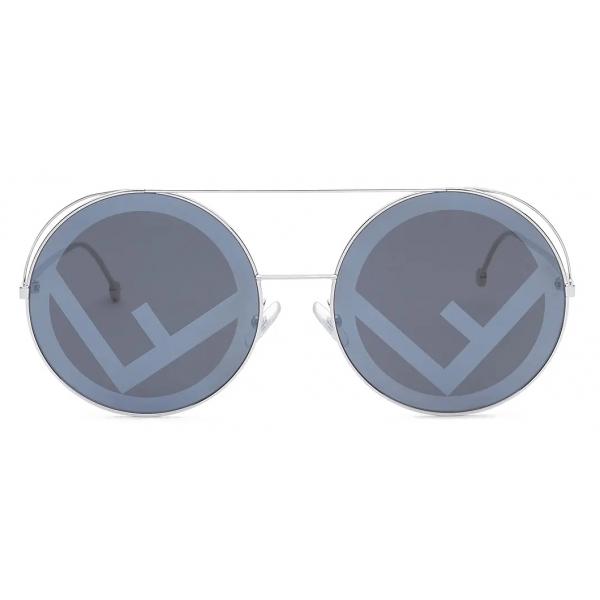 Fendi - Run Away - Oversize Round Sunglasses - Gray - Sunglasses - Fendi Eyewear