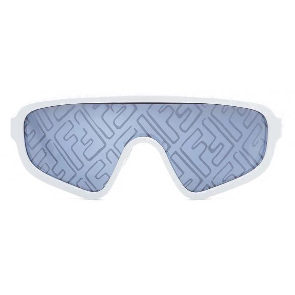 Fendi - Botanical Fendi - Shield Sunglasses - White - Sunglasses - Fendi Eyewear