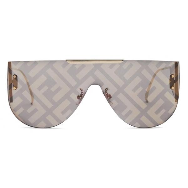 Fendi - Fabulous 2.0 - Shield Sunglasses - Gray - Sunglasses - Fendi Eyewear
