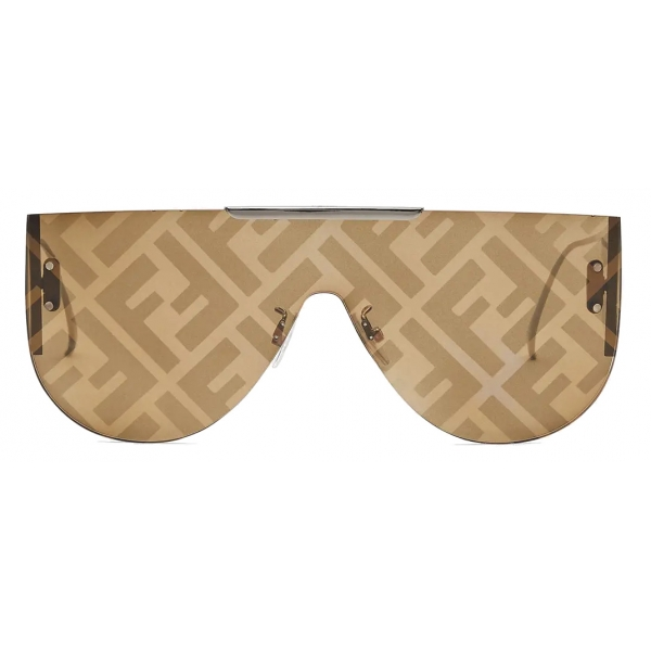 Fendi - Fabulous 2.0 - Shield Sunglasses - Brown - Sunglasses - Fendi Eyewear
