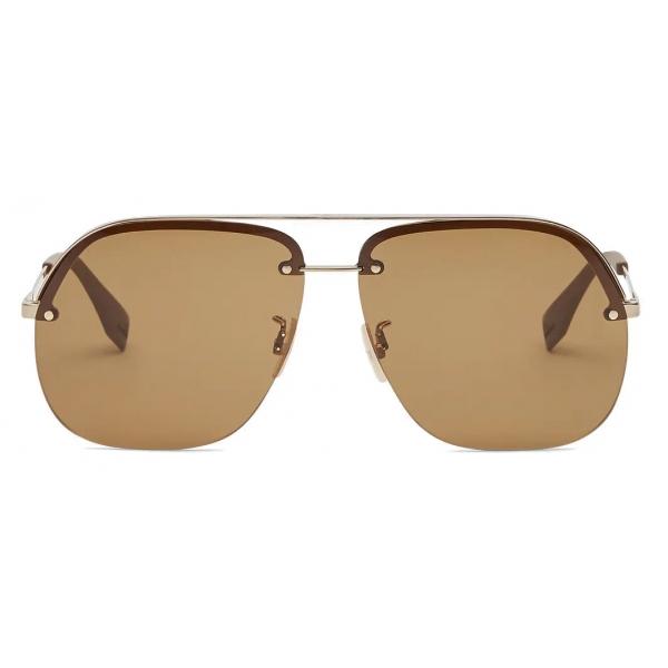 Fendi - Fendi Pack - Pilot Sunglasses - Brown - Sunglasses - Fendi Eyewear