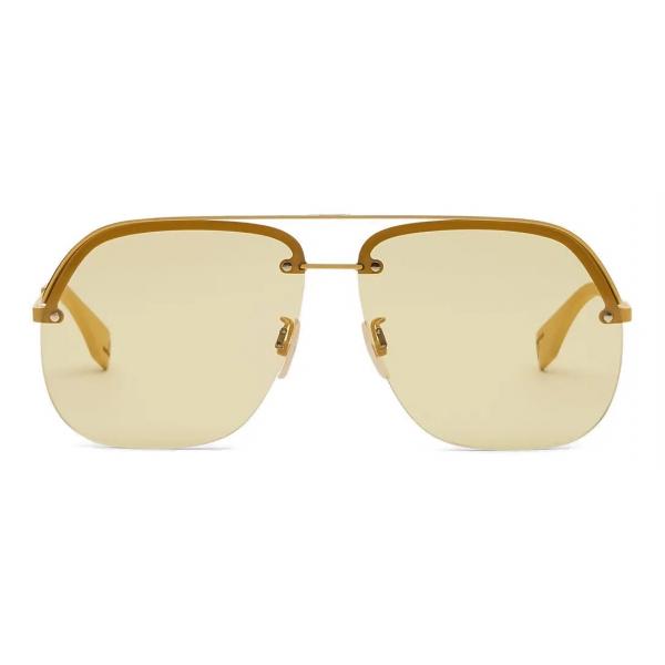 Fendi - Fendi Pack - Pilot Sunglasses - Yellow - Sunglasses - Fendi Eyewear