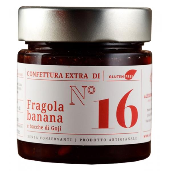 Alessio Brusadin - Confettura Extra di Fragole, Banana e Bacche di Goji - Confetture Speciali - Composte Dolci Artigianali