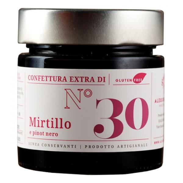Alessio Brusadin - Confettura Extra di Mirtillo e Pinot Nero - Confetture Speciali - Composte Dolci Artigianali