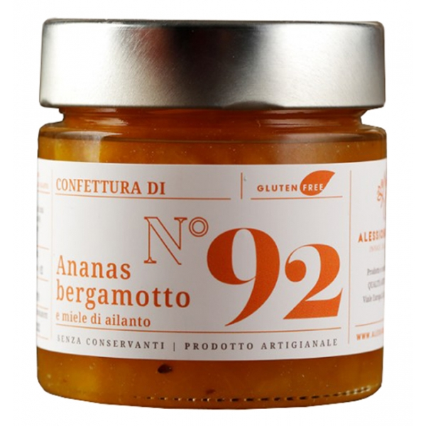 Alessio Brusadin - Pineapple, Bergamot and Ailanto Honey Jam - The Special Jams - Sweet Artisan Compotes
