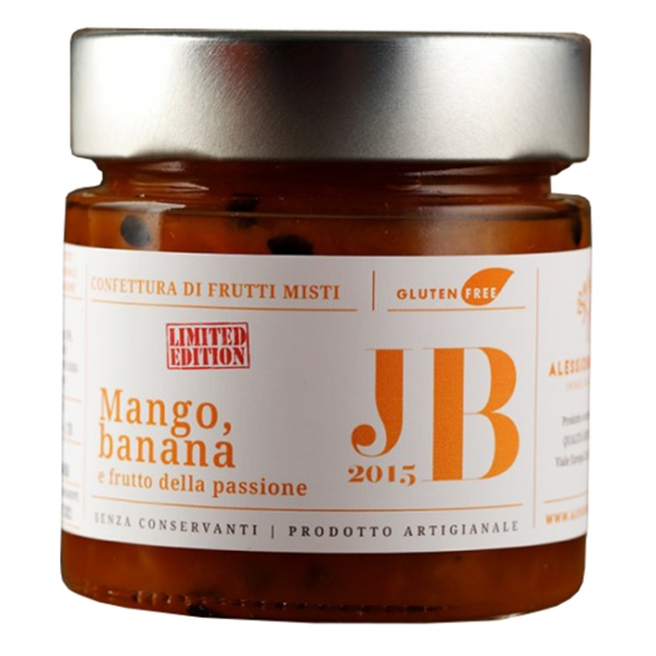 Alessio Brusadin - Mango, Banana and Passion Fruit Mixed Fruit Jam - The Special Jams - Sweet Artisan Compotes