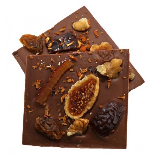 "Alessio Brusadin - Milk Chocolate with Orange and Nuts ""Il Sole d'Inverno"" - Italian Artisan Chocolate"