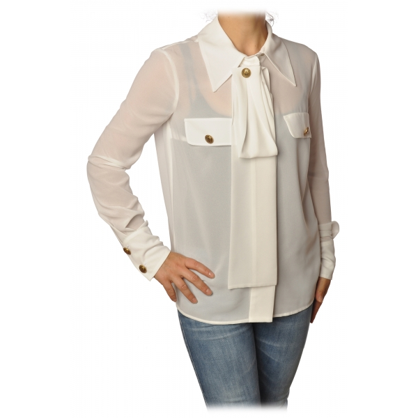 Elisabetta Franchi - Camicia Manica Lunga - Bianca - Camicia - Made in Italy - Luxury Exclusive Collection